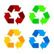 Recycle Symbol Isolated On White Background Stock Illustration