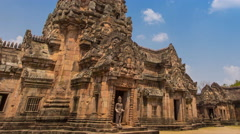Phnom Rung Historical Park Ancient Travel Place Of Buriram, Thailand (zoom out) Stock Footage