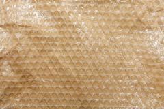 Plastic air bubble wrap background - stock photo