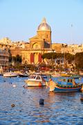 Stock Photo of St Joseph church in Kalkara, Malta