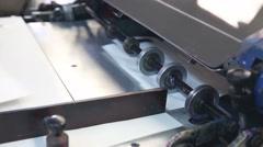 Flexo press surface printing machine flexography Stock Footage