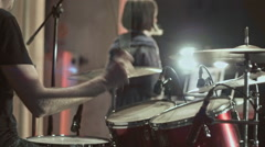 Drummer at rock consert slo-mo Arkistovideo