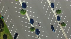Empty parking, overhead view Stock Footage