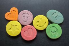 Ecstasy pills - stock photo