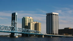 4K UltraHD Timelapse of Jacksonville and the St. Johns River Stock Footage