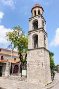Litochoro, Greece, central square Stock Photos