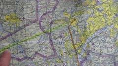 Aeronautical Chart - stock footage