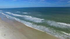 Panoramic aerial view of Daytona Beach Stock Footage