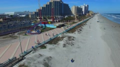 Aerial view of Daytona Beach Stock Footage