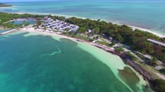 Bahia Honda park and road in Florida Keys Stock Footage