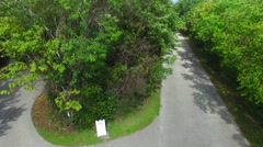 Delnor Wiggins park aerial view in Naples Stock Footage