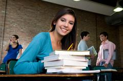 Portrait of a student - stock photo