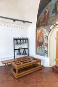 Tutaev, Russia. Church bells in the hall of the Resurrection Cathedral Stock Photos
