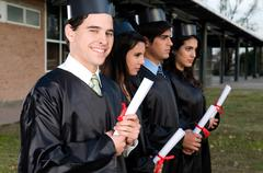 Students graduating Stock Photos