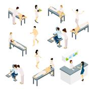 Massage Icons Set - stock illustration