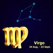 Vector  zodiac sign Virgo. Astrology. Stock Illustration