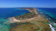 Flying over the road to Fort Nepean, Victoria Stock Footage