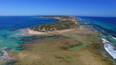 Panoramic view of Fort Nepean, Australia Stock Footage