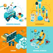 Science Concept Icons Set Stock Illustration