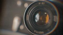 Old retro photo camera - CU 1 Stock Footage