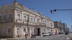 Municipal building, Rio Grande, Brazil Stock Footage