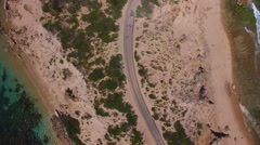 Overhead view of Fort Nepean road Stock Footage