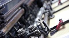Printing offset machine paper printing ink - stock footage
