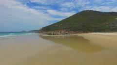 Aerial view of Wilsons Promontory coastline Stock Footage