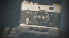 Old retro photo camera 5 Stock Footage