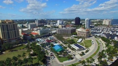 West Palm Beach, Florida. Beautiful aerial view Stock Footage