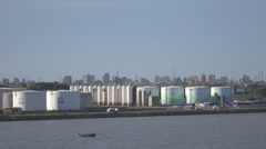 Petro chemical plant in city of Rio Grande, Brazil Stock Footage