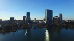 Orlando, Florida. Aerial view of the city from Lake Eola Park Arkistovideo