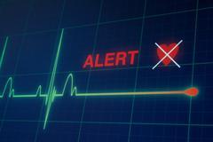 Heart beats cardiogram on the monitor. - stock photo