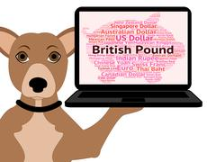 British Pound Shows Currency Exchange And Broker Stock Illustration
