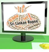 Stock Illustration of Sri Lankan Rupee Indicates Forex Trading And Coin