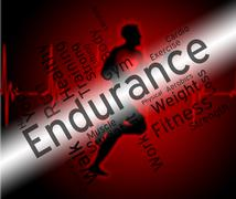 Endurance Word Represents Getting Fit And Athletic - stock illustration