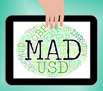 Stock Illustration of Mad Currency Means Worldwide Trading And Currencies