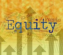 Equity Word Shows Text Riches And Assets Stock Illustration