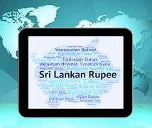 Stock Illustration of Sri Lankan Rupee Means Forex Trading And Exchange