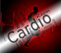 Cardio Word Indicates Get Fit And Exercise Stock Illustration