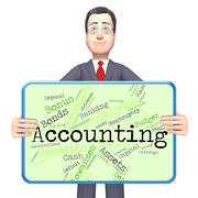 Accounting Words Indicates Balancing The Books And Accountant - stock illustration