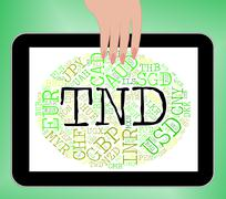 Stock Illustration of Tnd Currency Means Worldwide Trading And Exchange