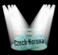 Czech Koruna Means Foreign Currency And Banknotes Stock Illustration