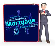 Mortgage Word Shows Home Loan And Debt Piirros