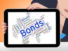 Bonds Word Means Financial Obligation And Arrears Stock Illustration