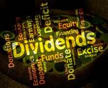 Dividends Word Shows Stock Market And Trading Stock Illustration