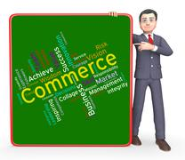 Stock Illustration of Commerce Words Represents Ecommerce Buy And Buying