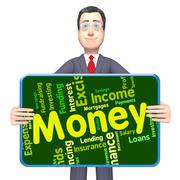 Money Word Represents Savings Words And Text - stock illustration