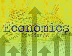 Economics Word Shows Finance Economize And Economical - stock illustration