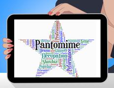 Pantomime Star Indicates Words Play And Melodrama - stock illustration